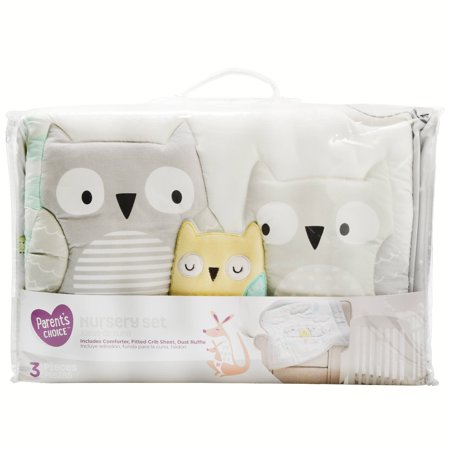 Parent S Choice Nursery Set 3 Piece Set Owl Walmart Com