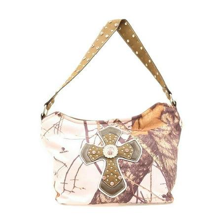 Nocona Western Handbag Womens Hobo Cross Pink Camo N7519030