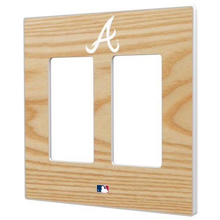 Baseball Clearance Outlet (Atlanta Braves Baseball Bat Design Double Rocker Light Switch Plate - No)