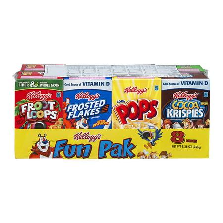 Kelloggs Variety Fun Pack Cereal 8 Ct