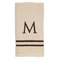 Avanti Linens 3 Piece Personalized Ivory Towel Set