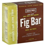 Nature's Bakery Fig Bar, Whole Wheat Apple Cinnamon, 2g Protein, 6 Ct