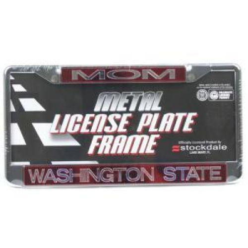 "Washington State Cougars Metal ""mom"" Inlaid Acrylic License Plate Frame"