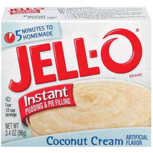 Jell-O Coconut Cream Instant Pudding & Pie Filling, 3.4 oz