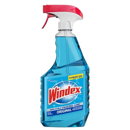 - (2 pack) Windex Glass Cleaner Trigger Bottle, Original Blue, 32 fl oz