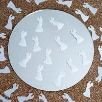 White Metallic Foil Dancing Couple Confetti Sprinkles For Party 300pcs/pk 2PK