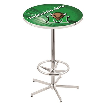 Holland Bar Stool L216C4228Mrshll-D2 42 in. Marshall Thundering Herd Pub Table with 28 in. Top, Chrome - image 1 of 1