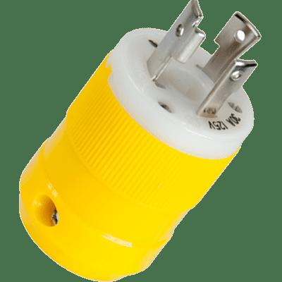 30a 125v Straight Adapter - Marinco 305CRPN Compact Plug, 30A 125V