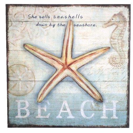 Beach Shell Sign, She Sells Seashells Down By the - She Sells Seashells Seashore