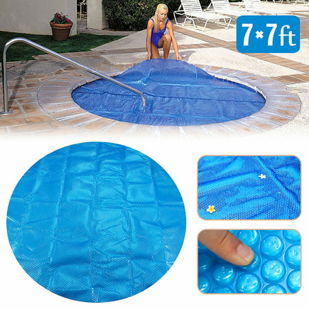 Thermal Pool - 7x7ft Blue Round Swimming Pool Spa & Hot Tub Thermal Solar Cover Blanket