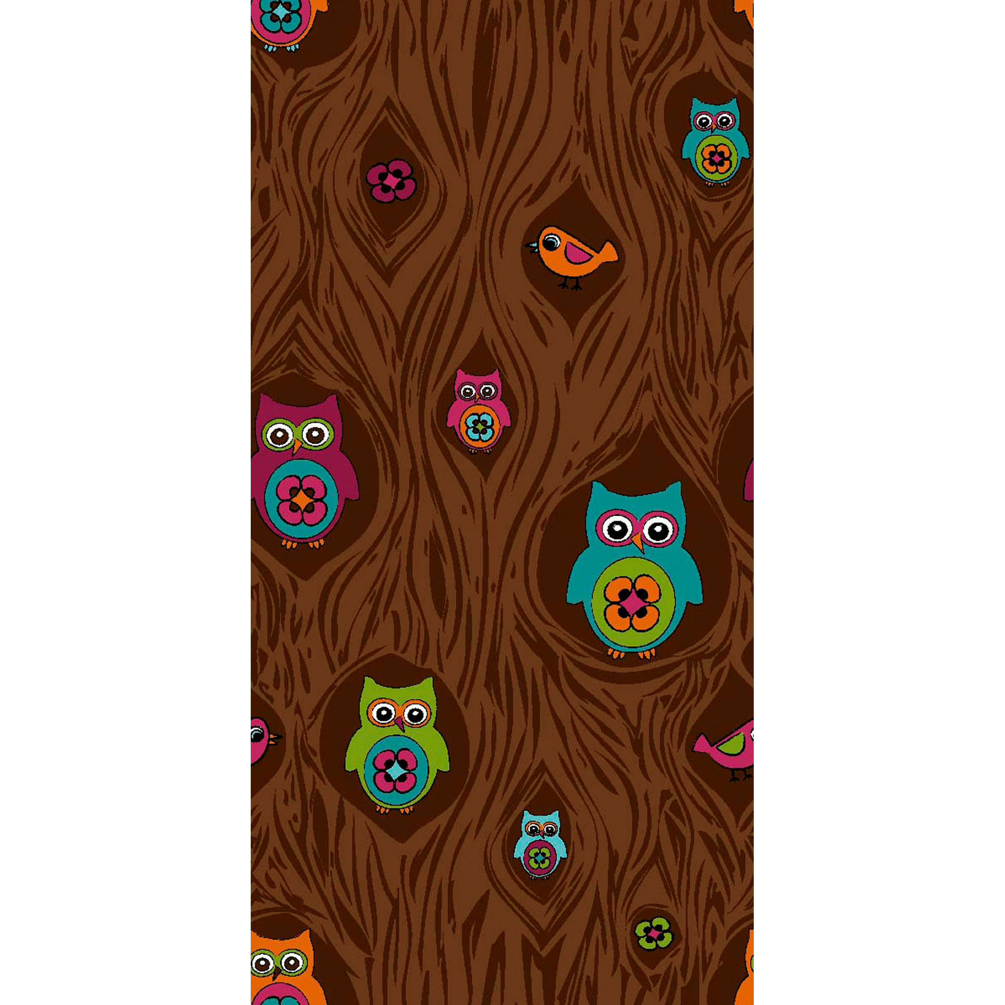 Woodland Whimsy Peeping Owls, Brown