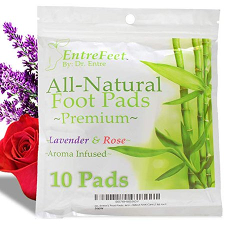 Dr. Entre's Detox Foot Pads: Premium 100% Organic All Natural Ingredients for Impurity Removal, Pain Relief, Sleep Aid, and Relaxation, 10