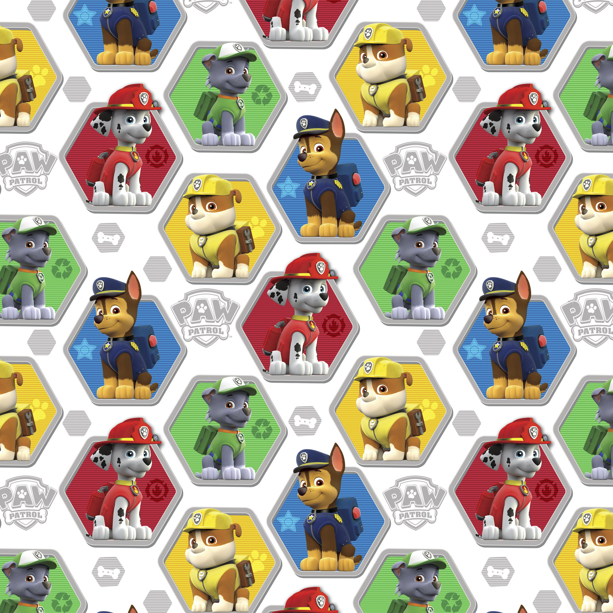 "David Textiles Cotton Pre-Cut 54"" x 44"" Paw Patrol Fabric, 1 Each"