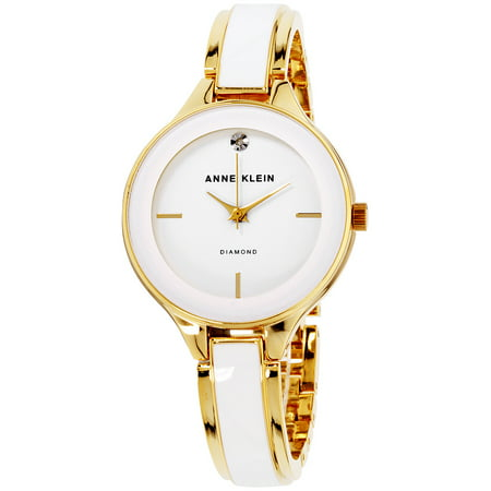 Anne Klein Women's Classic White Dial Stainless Steel Watch AK-2702WTGB