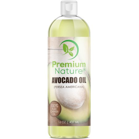 Avocado Oil for Hair Face & Skin Carrier Oils for Essential Oil Mixing 16 oz by Premium (Best Carrier Oil For Making Essential Oils)