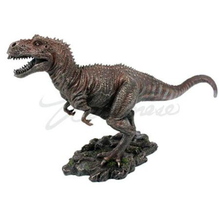 Unicorn Studios WU72863A4 Tyrannosaurus Rex Dinosaur Figurine, Cold Cast  Bronze