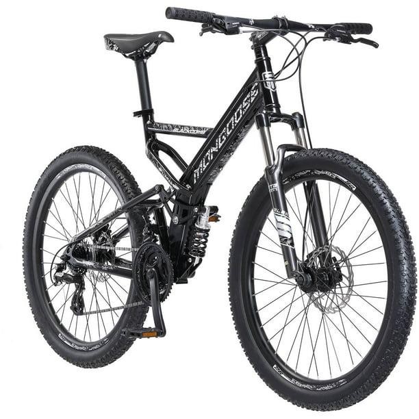 Mongoose Blackcomb Mountain Bike 26 Inch Wheels 24 Speeds Black Men S Walmart Com Walmart Com