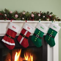 Personalized Elf, Santa Or Mrs. Claus Dress Christmas Stocking