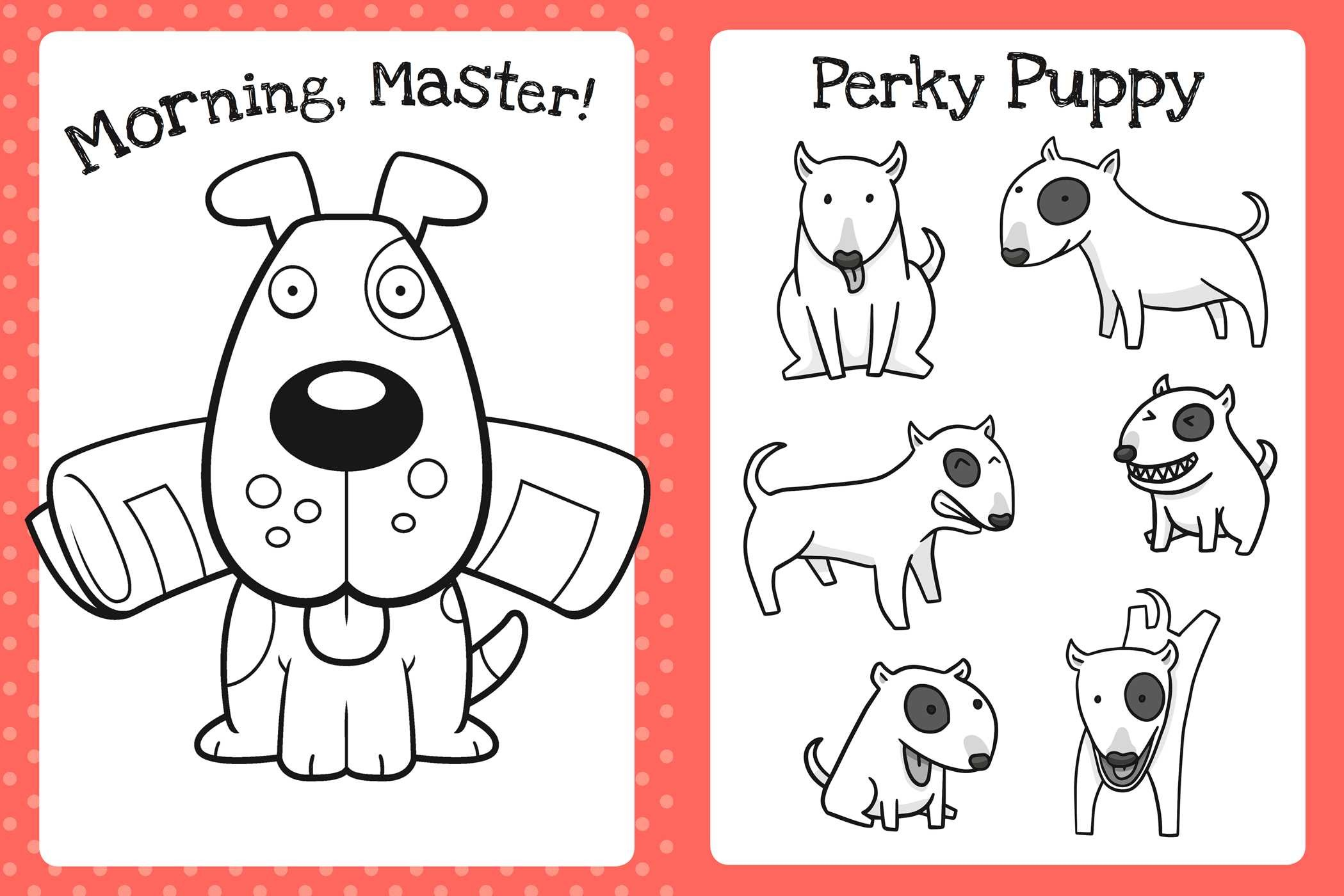 The Too Cute Coloring Book: Puppies (Part of Too Cute Coloring) By ...