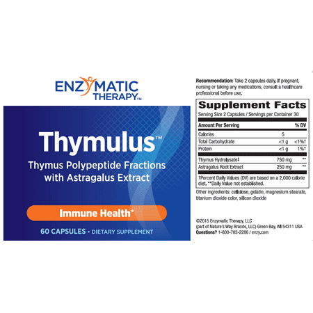 - Enzymatic Therapy Thymulus Immune Health Capsules, 60 Ct