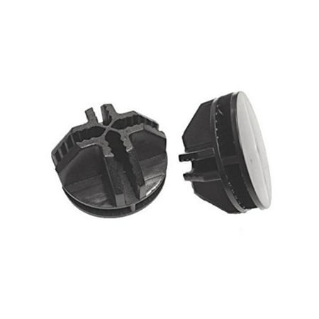 Set of 50 Black Wire Cube Plastic Connectors, New Design! Guaranteed to Fit Smaller Gauge Wire Panels By Only Hangers,USA ()