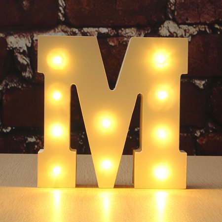 A -M LED Partydekorationen Wooden Marquee Letter Light Alphabet Symbo Decorl Lights Sign Vintage Style Sign Light Up Nightlight Decoration (D Marquee Halloween)