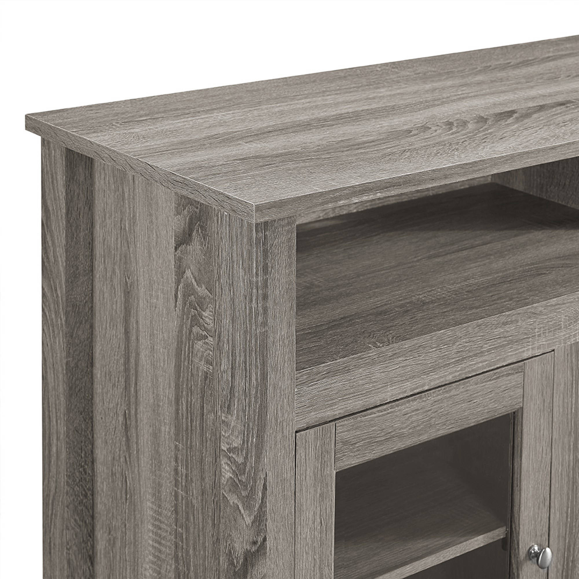 58 Wood Highboy Fireplace Tv Stand For Tvs Up To 60 Espresso