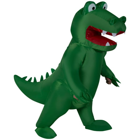 Inflatable Alligator Adult Halloween Costume - Green Jolly Rancher Halloween Costume Party City