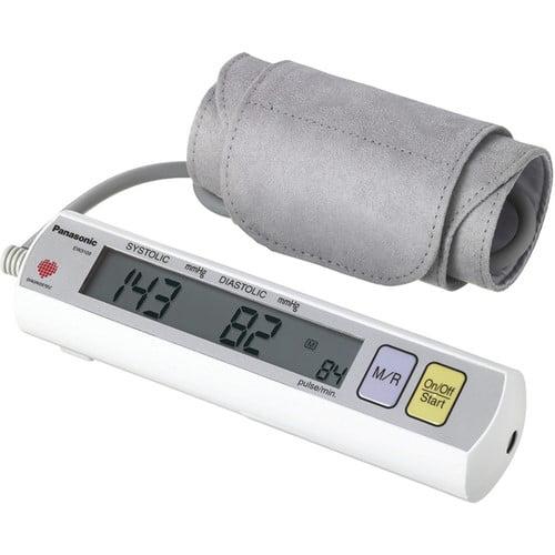 Panasonic Portable Upper Arm Blood Pressure Monitor, Gray EW3109W