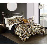 Your Zone Twin Brushstroke Gold Bed in a Bag Bedding Set, 5 Piece