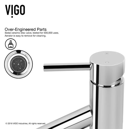 VIGO Alicia Single Lever Basin Bathroom Faucet with Deck Plate