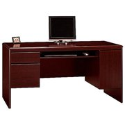 Bush Furniture Northfield Computer Desk with Keyboard Tray in Harvest Cherry
