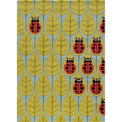 Momeni 'Lil Mo Ladybug Rug (2' x 3') Ladybug Red (3' x 5')