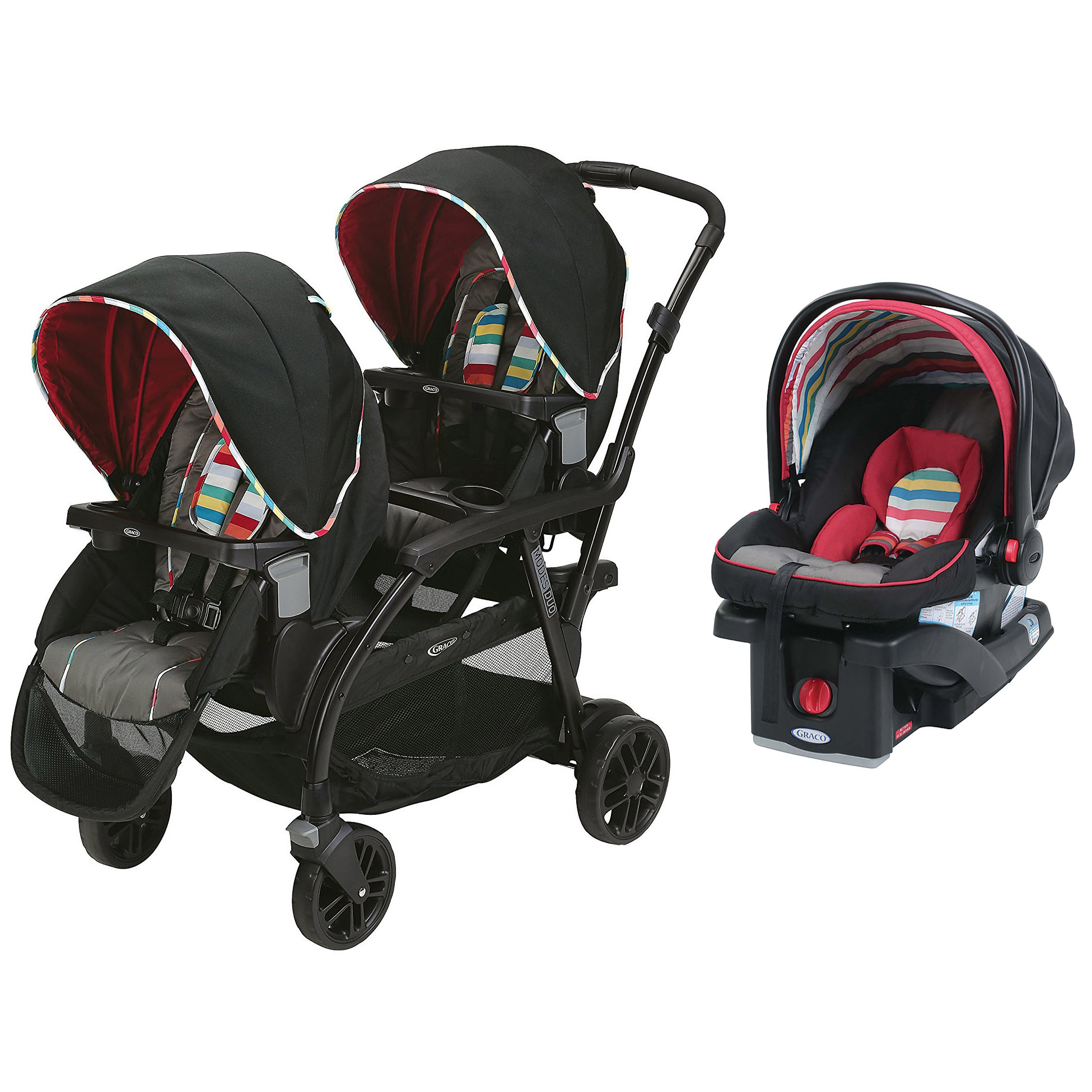 Graco Travel System Modes Duo Stroller & SnugRide Click Connect Infant Car Seat by Graco