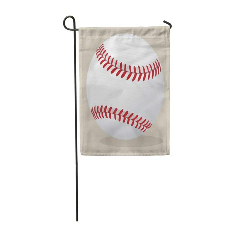 Baseball House Flag - KDAGR Red Stitches Baseball Ball Cartoon Activity American Animation Athletic Garden Flag Decorative Flag House Banner 28x40 inch