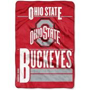 Ohio State Buckeyes The Northwest Company 60'' x 80'' Faculty Oversized Micro Raschel Throw Blanket - Scarlet - OSFA