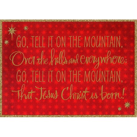 Hallmark Go Tell It on the Mountain Box of 16 Religious African American Christmas Cards - Religious Christmas Card Sayings