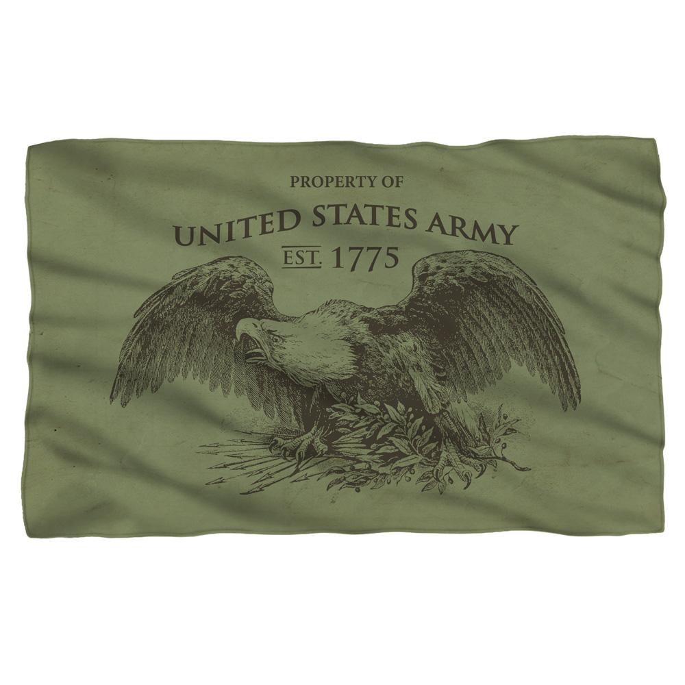 Army Property Fleece Blanket White 48X80