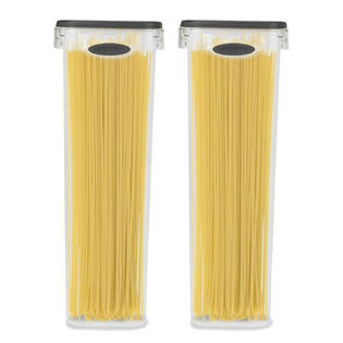 2 Pack Spaghetti Lasagna Pasta Box 6 Cup Tall Square Plastic Food