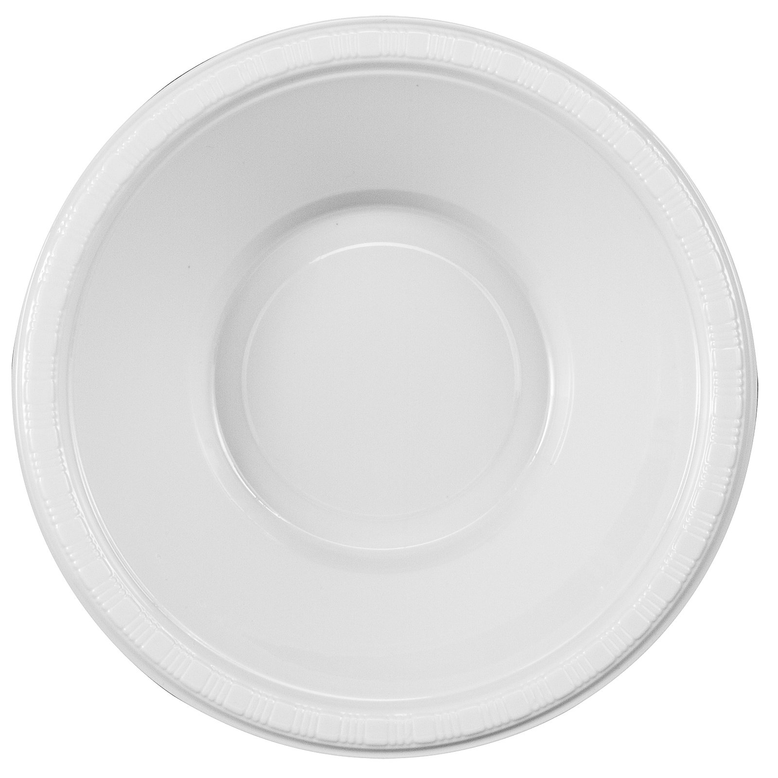 Bright White Plastic Bowls, Pack of 20
