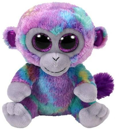 TY Beanie Boos - Zuri The Tie Dye Monkey (Glitter Eyes) Small 6