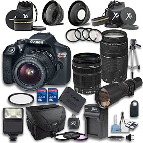 Canon T6 DSLR Camera +18-135mm IS STM Lens +EF 75-300mm f...