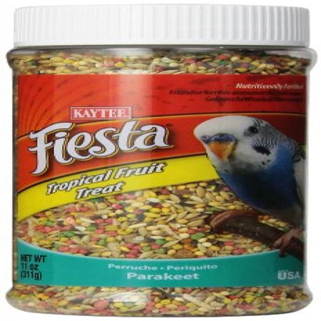 Parakeet Tropical Fruit Treat (Kaytee Fiesta Tropical Fruit Parakeet Treat, 11-oz jar )
