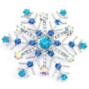 AkoaDa Fashion Christmas Snowflake Enamel Brooch Pin Xmas Party Jewelry Gift ja4