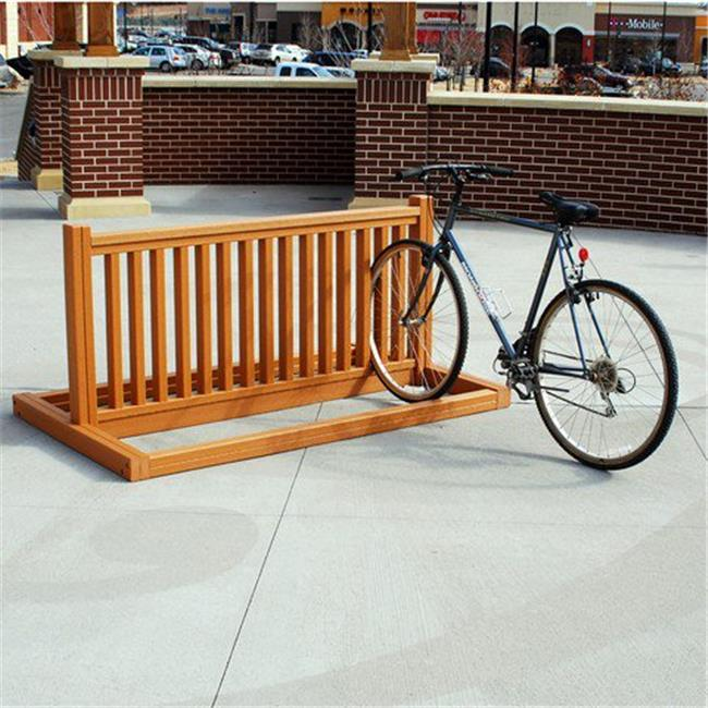 Jayhawk PB BIKEGRE Bike Rack, Green - 6 ft.