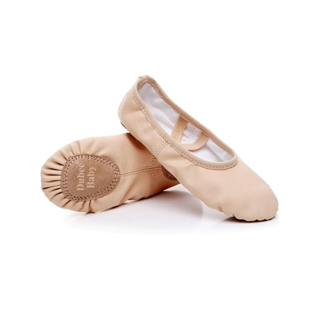 Dubeebaby Girls Leather Ballet Shoes Slippers,Split Sole Flats For Toddlers