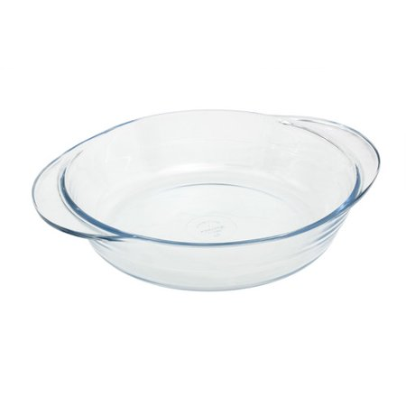 Marinex 5 Qt. Glass Round Flat Casserole with Lid