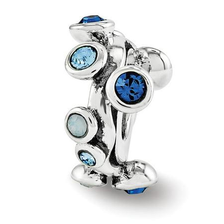 Topaz Bubble - Mia Diamonds Solid 925 Sterling Silver Reflections Swarovski Crystal Bubble Spacer Bead