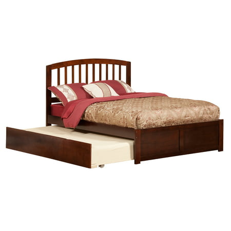 4ca87ea598499 Richmond Platform Bed with Matching Foot Board with Twin Size Urban Trundle  Bed in