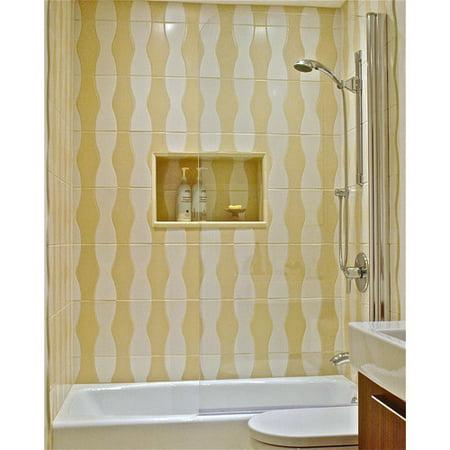Ark Showers 335 X 64 Pivot Semi Frameless Bathtub Shower Screen